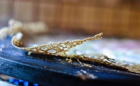 Crêpes galettes bretonnes au beurre de chocolat ou café