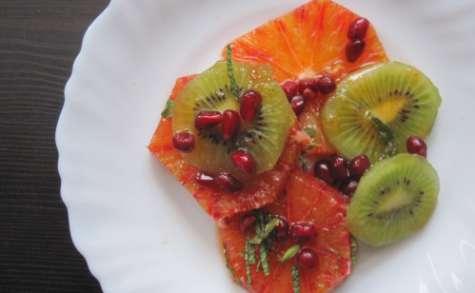 Salade d'oranges, kiwis et grenades