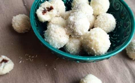 Bouchées noix de coco coeur ganache au chocolat