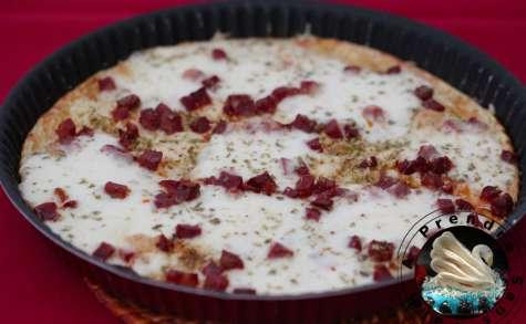 Pizza sans croûte express au chorizo