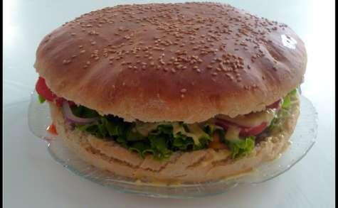 Hamburger géant à partager