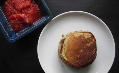 Pancakes à l'avoine, orange et pavot