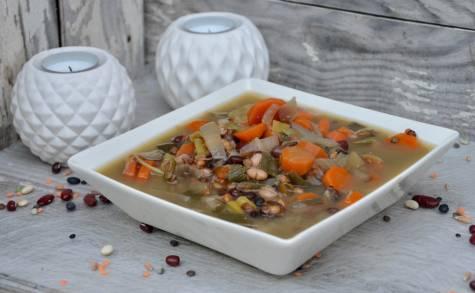 Soupe de légumes et céréales