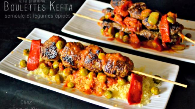 Kefta en brochettes la plancha et l gumes pic s par for Legumes a la plancha