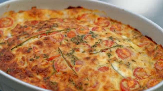 clafoutis aux maquereaux tomates cerises mozzarella et parmesan par ma cuisine et vous. Black Bedroom Furniture Sets. Home Design Ideas