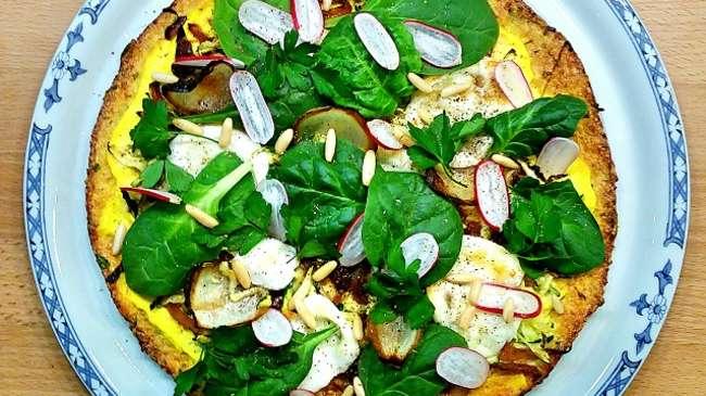 du chou fleur en guise de p 226 te 224 pizza par gratinez