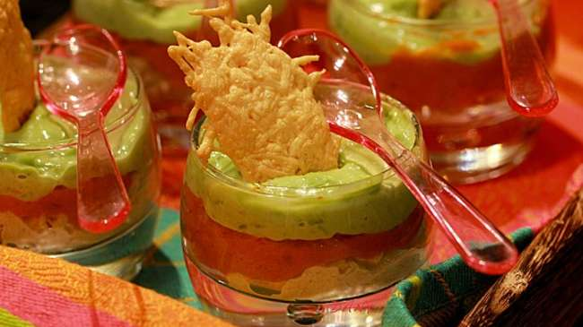 verrine avocat crabe au pesto