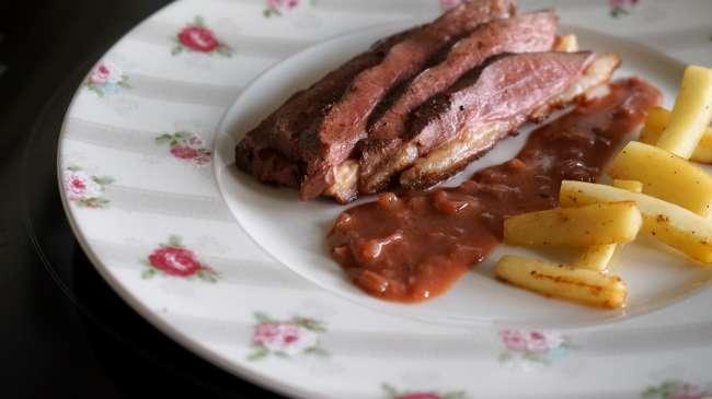 Magret de canard au vinaigre de framboise recette de magret canard par chef simon for Cuisson magret canard au four