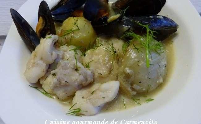 Blanquette de joue de lotte - Cuisine gourmande de Carmencita