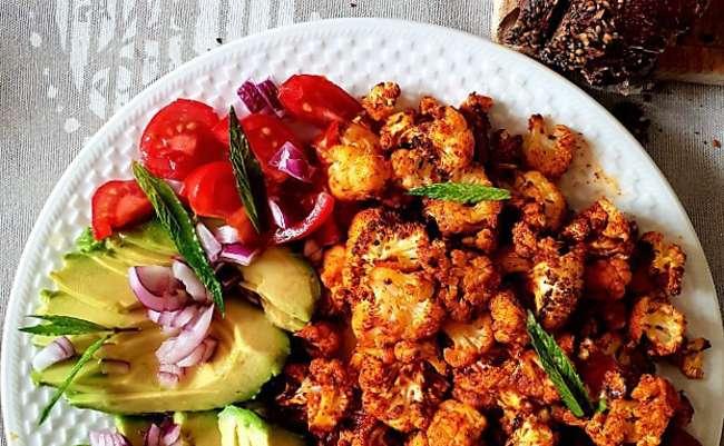 Salade tiède au chou fleur épicé | Blog de cuisine de l'AMAP Belles Fontaines de la vallée