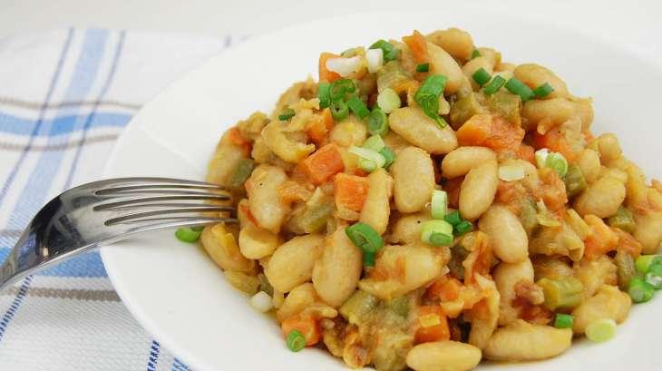 Haricots blancs saut s recette par tchop afrik 39 a cuisine - Cuisiner feves fraiches ...