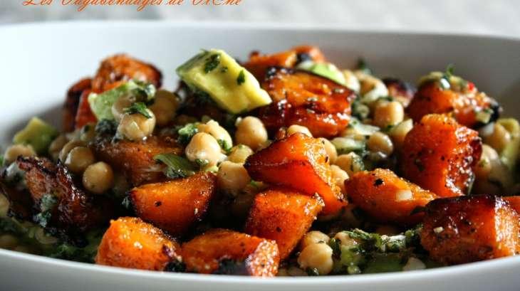 Salade pois chiches patate douce avocat vinaigrette aux fruits de la passion recette par - Recette patate douce blanche ...