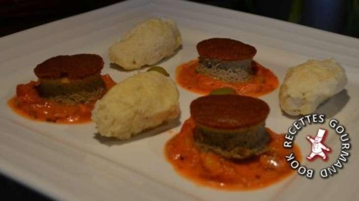 Gateau de foie sauce tomate