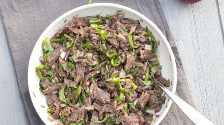 Salade thaïe de joue de boeuf