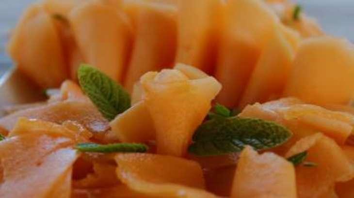 Carpaccio de melon à la menthe -