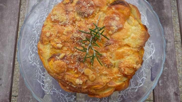 Gâteau invisible aux pommes de terre et patates douces