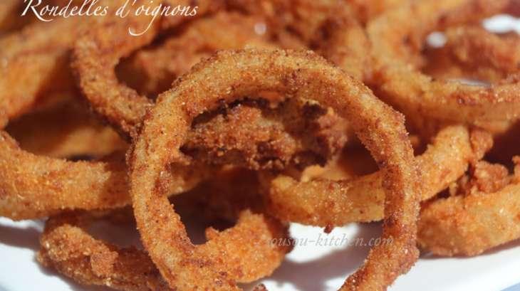 Rondelles d'oignons frites
