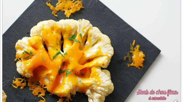 Steak de chou-fleur à la mimolette