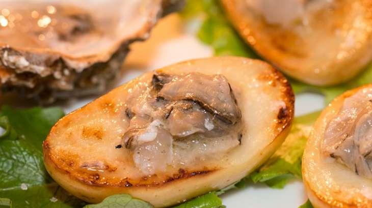 Tartare d'huîtres à la crème d'artichaut