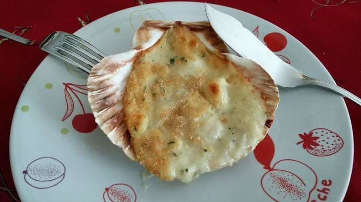 coquilles saint jacques gratin es au thermomix facile et rapide recette par omothermix. Black Bedroom Furniture Sets. Home Design Ideas