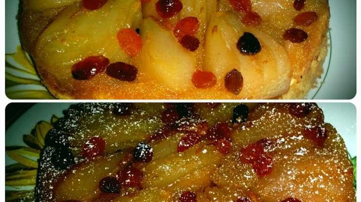 Gâteau aux poires et raisins secs