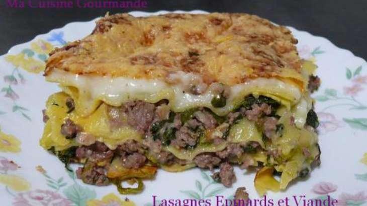 Lasagnes aux pinards et la viande h ch e recette par - Cuisiner viande hachee ...