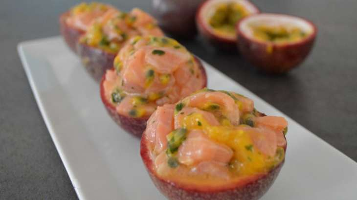 passion fruit salmon tartare