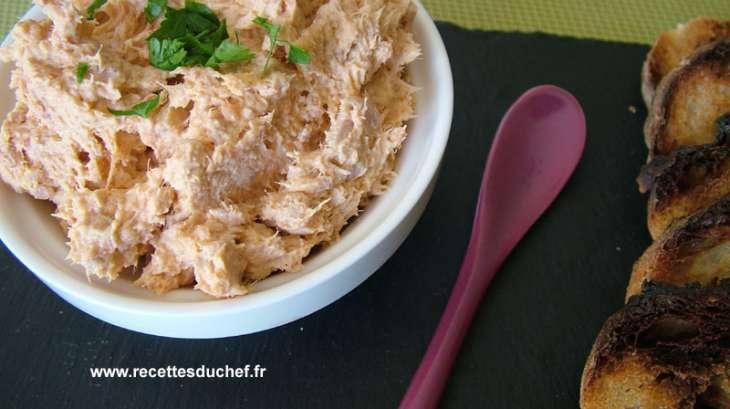 rillettes de thon au chorizo recette par recettes du chef. Black Bedroom Furniture Sets. Home Design Ideas