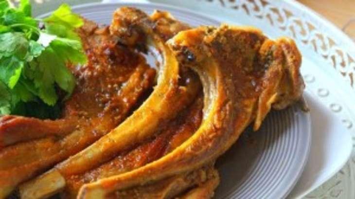 C telettes d agneau marin es au four recette par - Cuisiner cote d agneau ...