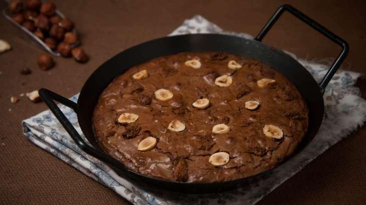 brownie la po le au chocolat noisette et sp culoos recette par culinaireamoula. Black Bedroom Furniture Sets. Home Design Ideas