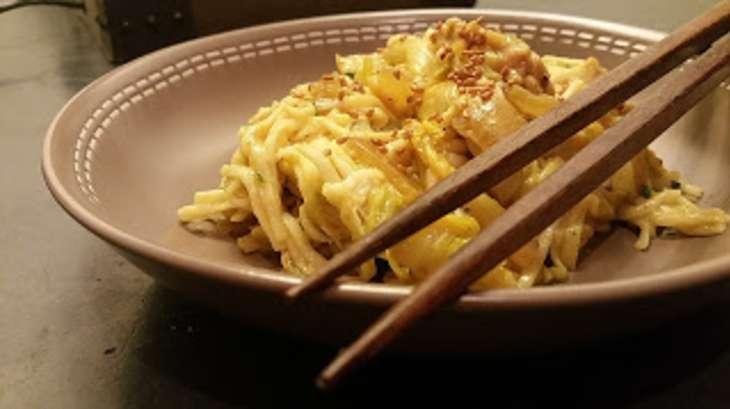 Nouilles chinoises au poulet et choux chinois recette par saveurs d 39 ici cook enjoy - Comment cuisiner le choux chinois ...