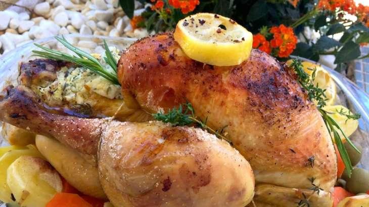 poulet rôti au citron