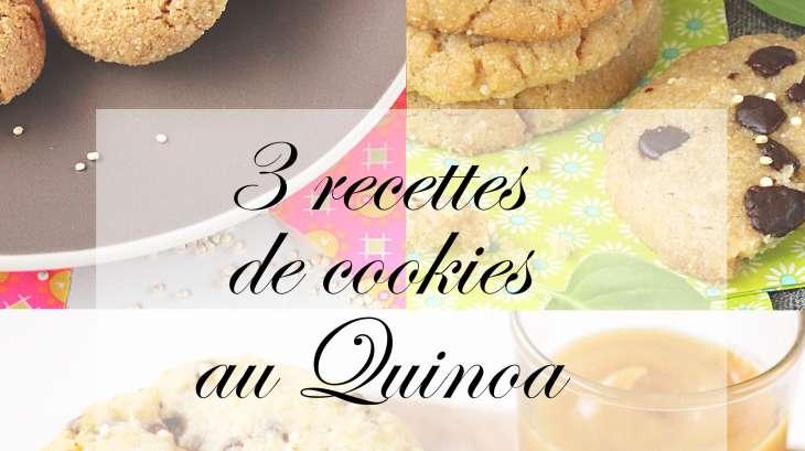 3 recettes de cookies avec du quinoa