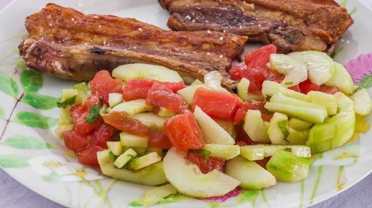 Travers de porc mariné à la grecque