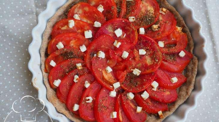 Tarte à la tomate et à la moutarde ancienne