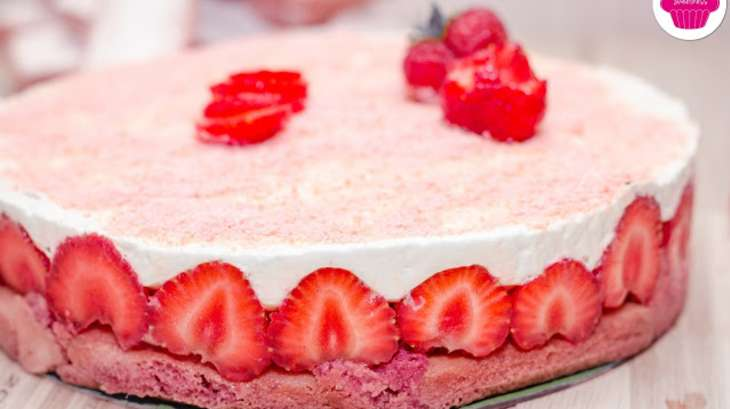 Gateau tiramisu aux fraises