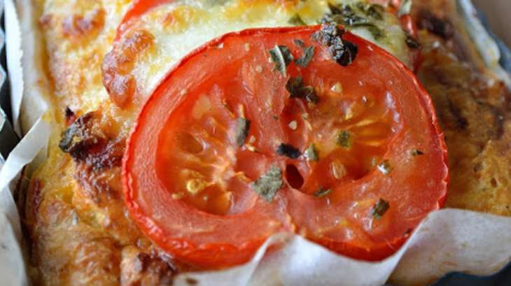 Pudding de pain chorizo-tomate-mozzarella