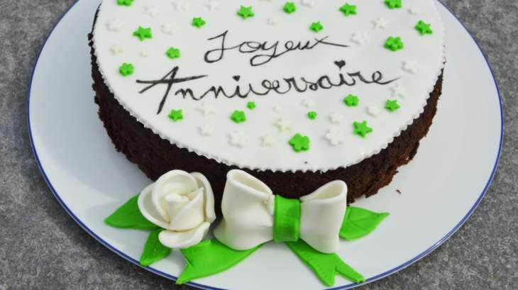 Gâteau d'anniversaire chocolat courgette