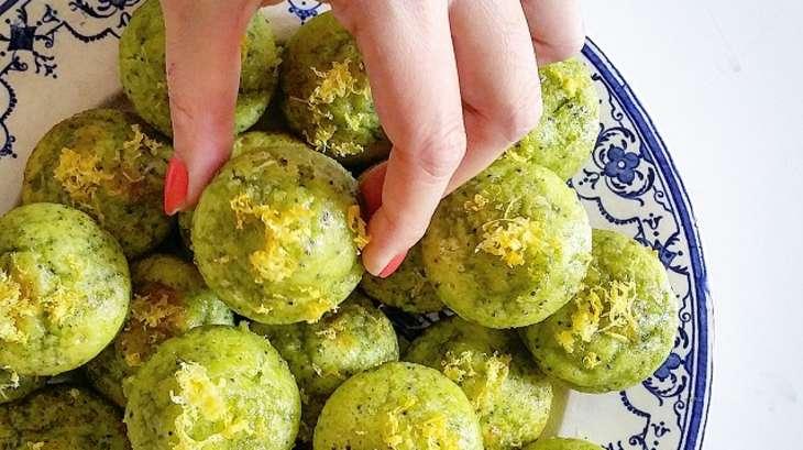 Muffins matcha, citron et pavot