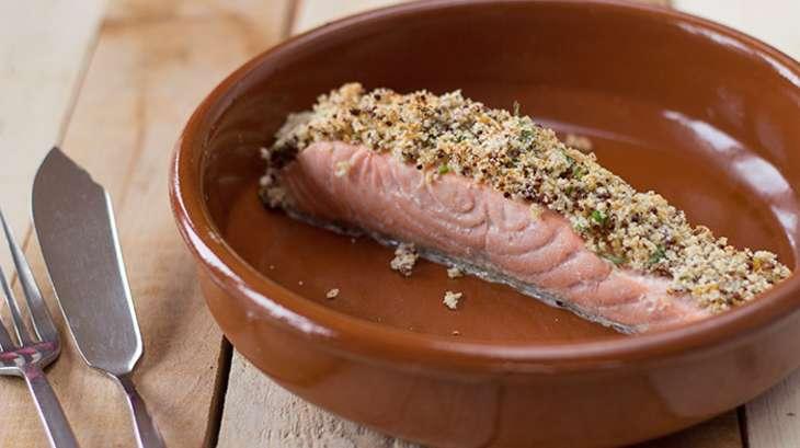 Pav de saumon en cro te de moutarde l 39 ancienne et d 39 estragon recette par une french girl - Recette cuisine ancienne ...