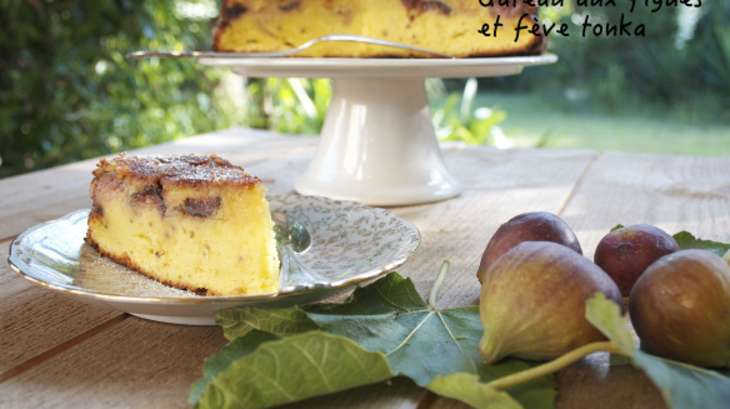 Gâteau aux figues et fève tonka