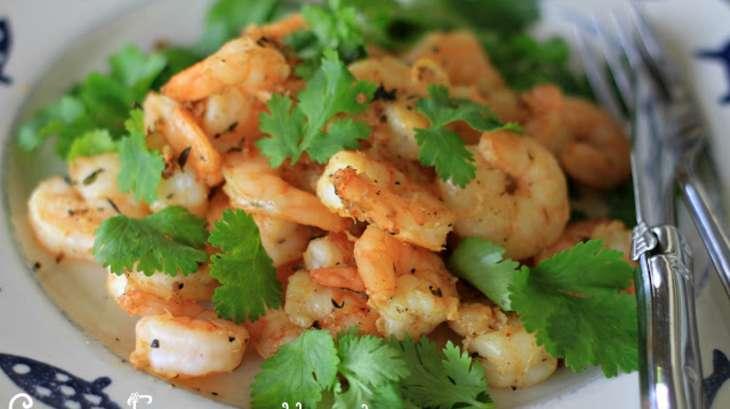 Crevettes grillées à la coriandre