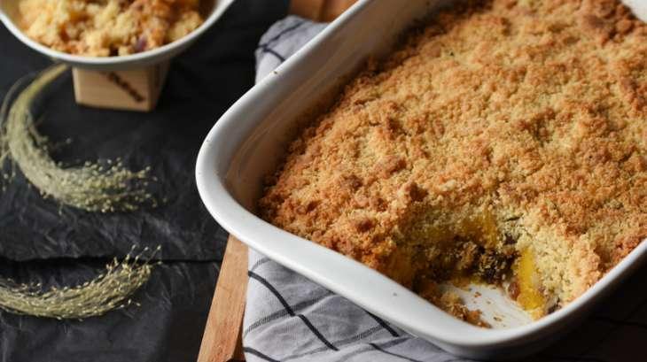 Crumble salé butternut-marrons