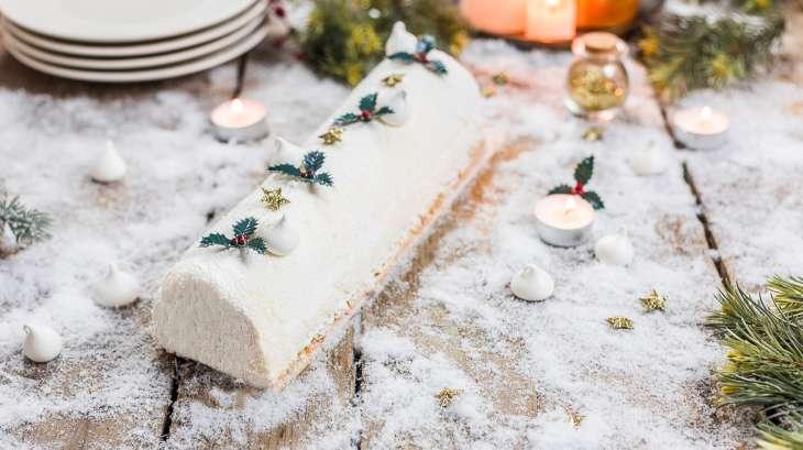 Bûche de Noël citron et framboise