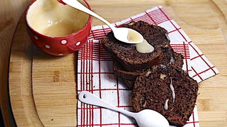 Banana bread au chocolat et caramel à la vanille