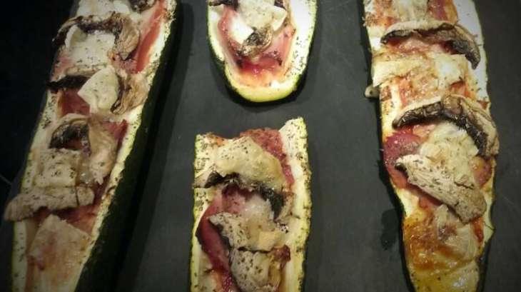 Courgettes façon pizza au merzer
