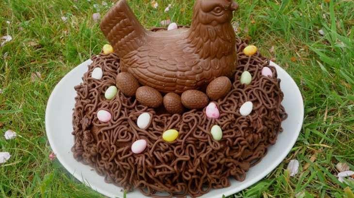 Recette gateau nid de paques chocolat