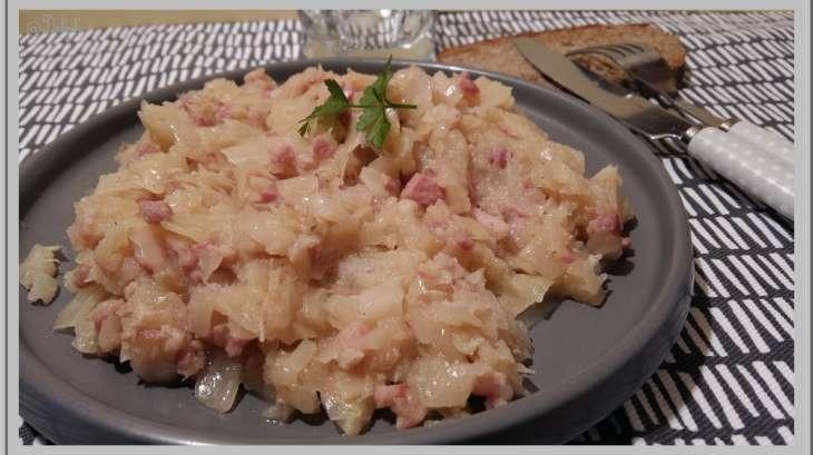 Chou blanc aux lardons recette par oh la gourmande - Cuisiner du chou blanc ...