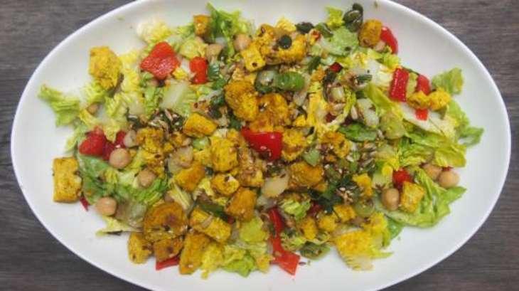 salade au tofu curry-mangue - recette par cuisiner en paix
