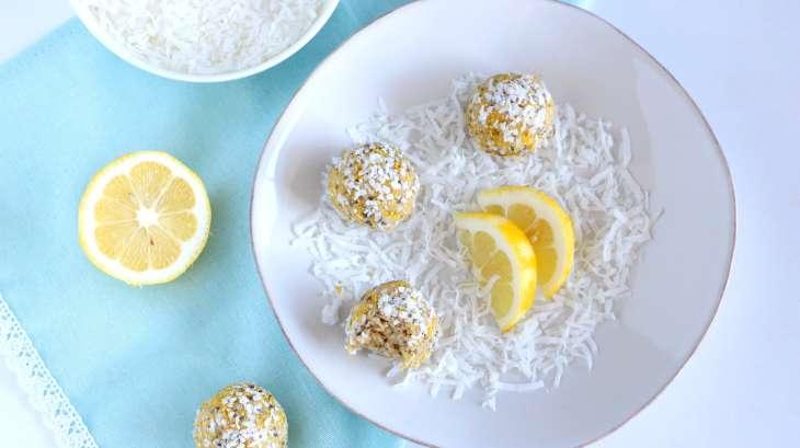 Boules énergétiques citron et coco